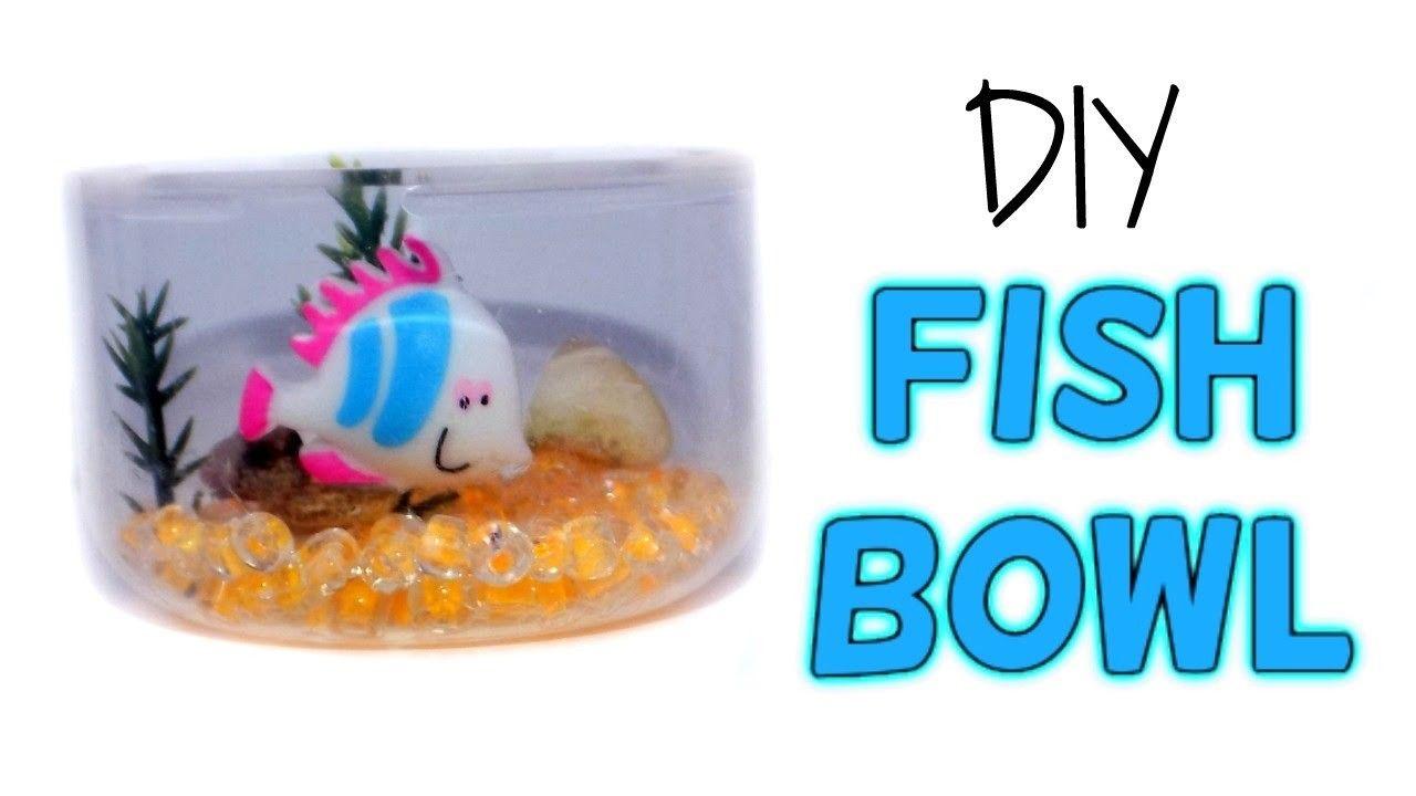 Diy miniature fish bowl aquarium how to make lps crafts doll diy miniature fish bowl aquarium how to make lps crafts doll stuff dollhouse things ccuart Images