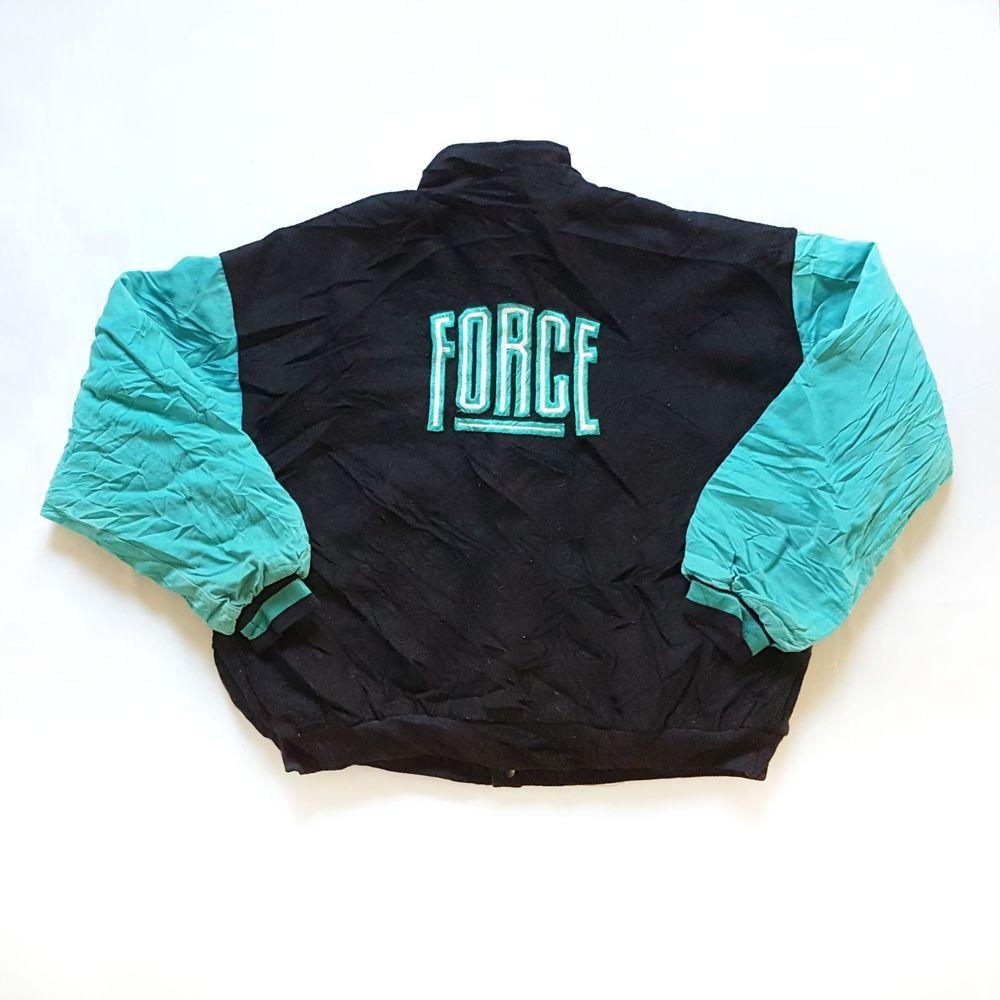 619ea03212d Vintage 90s NIKE1 Air Command Force Basketball Fleece Jacket XL Letterman  Jordan #Nike #Baseball