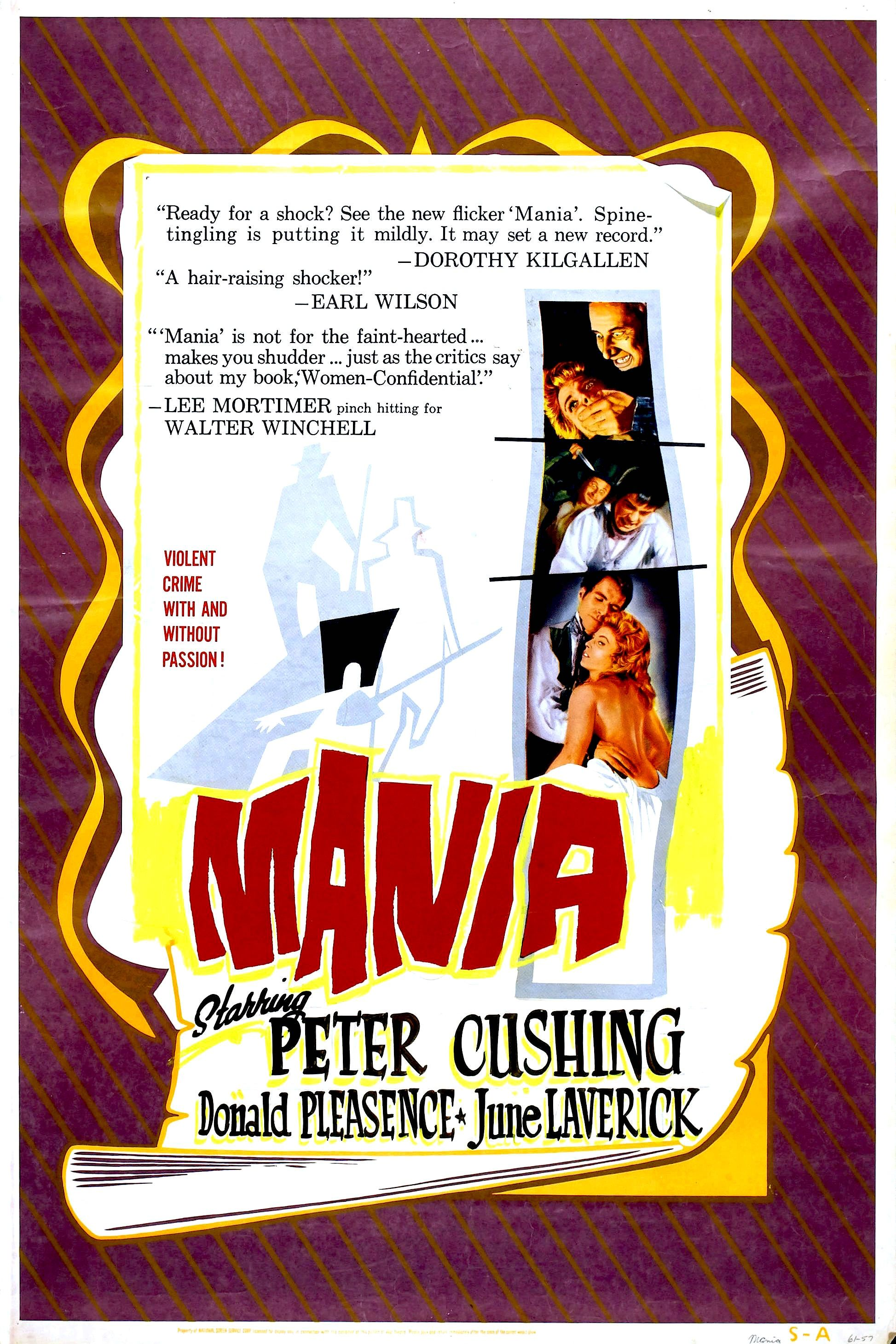 """Mania (1965) aka """"The Flesh and the Fiends"""""""