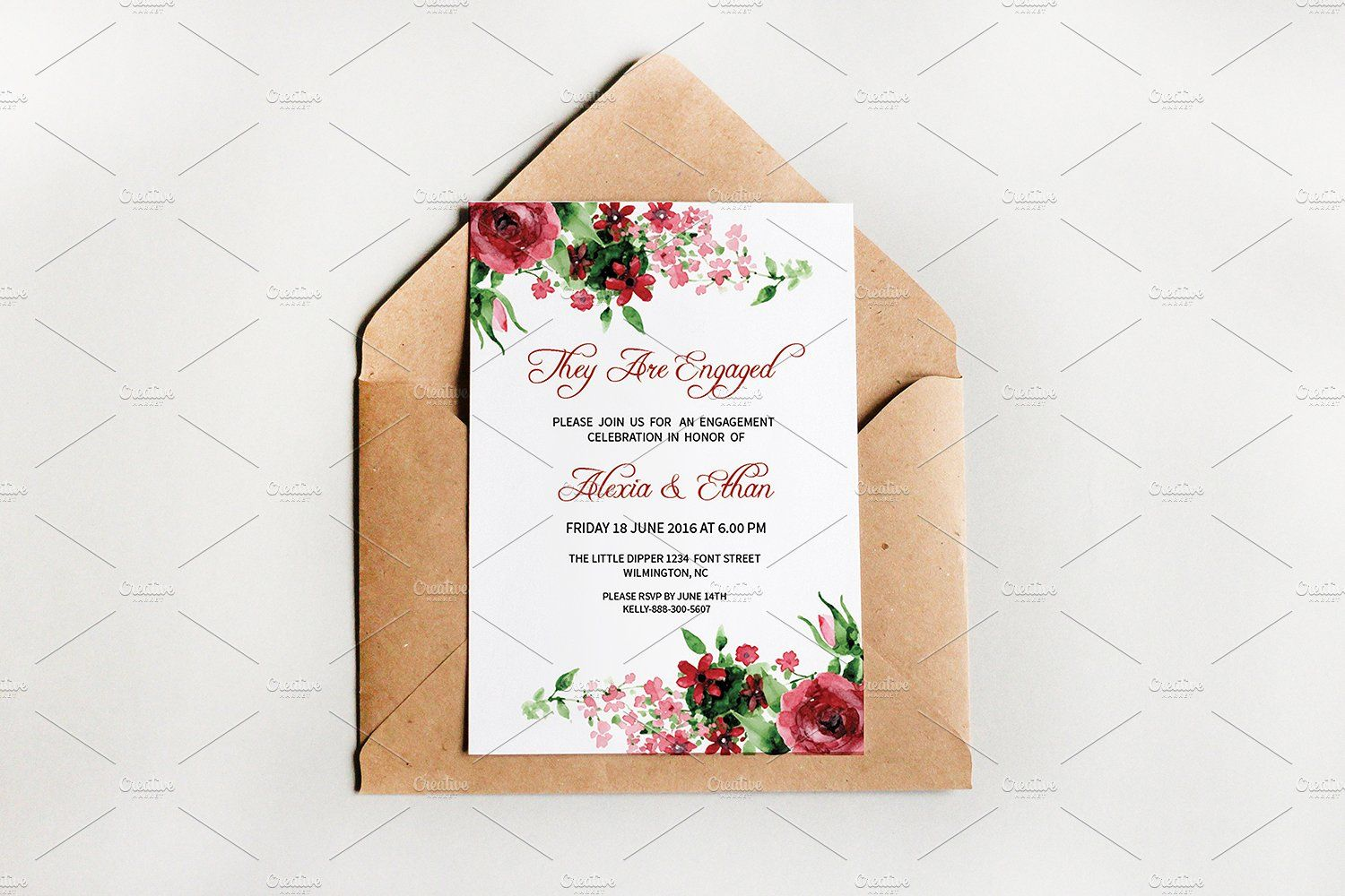 Engagement Party Invitation Template by Wedding Templates on ...