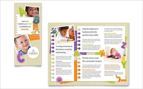 free brochure design templates for education child development