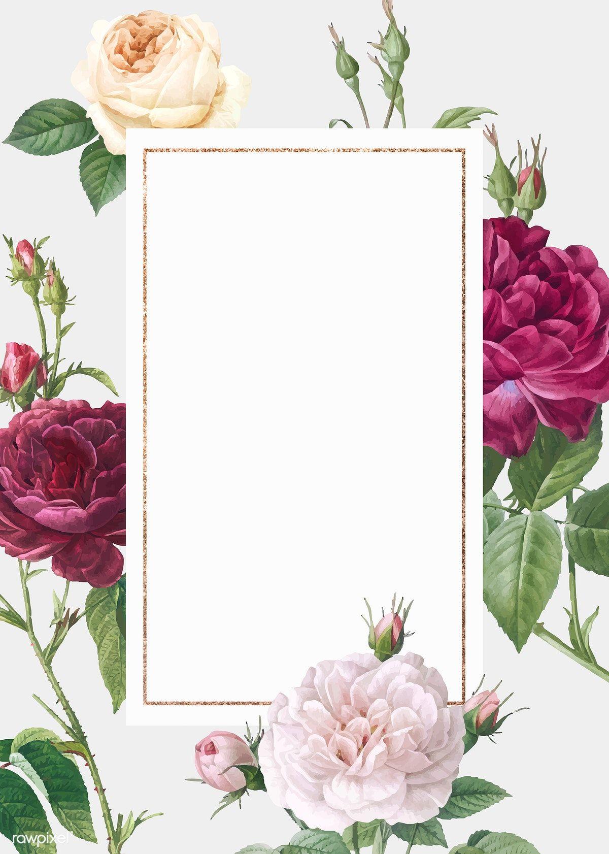 Download Premium Vector Of Floral Wedding Invitation Mockup Vector 581095 Wedding Invitation Background Floral Wedding Invitations Floral Wedding Invitation Card