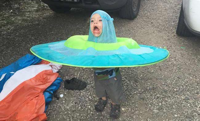 Kid Stuck In A Swimming Pool Floatie Is The Internet's Latest Meme