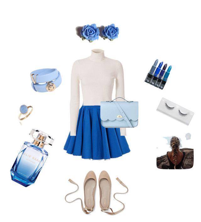 Blue by latingirl13 on Polyvore featuring polyvore, moda, style, A.L.C., Philipp Plein, The Cambridge Satchel Company, Versace, Tarina Tarantino, Latelita, Elie Saab, fashion and clothing
