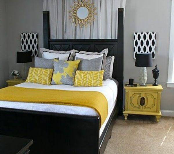 La chambre à coucher- fraîcheur en gris, oui cu0027est possible