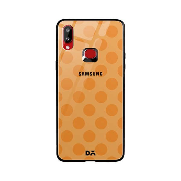 DailyObjects Orange Polka Glass Case Cover For Samsung Galaxy A10S Buy Online in India - DailyObjects