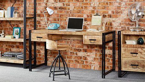 Onawa Vintage Industrial Syle Schreibtisch Aus Holz   Konferenztisch
