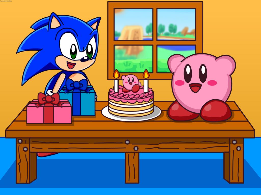 Happy Birthday Kirby By Kittykun123 Deviantart Com On Deviantart Kirby Character Kirby Happy Birthday
