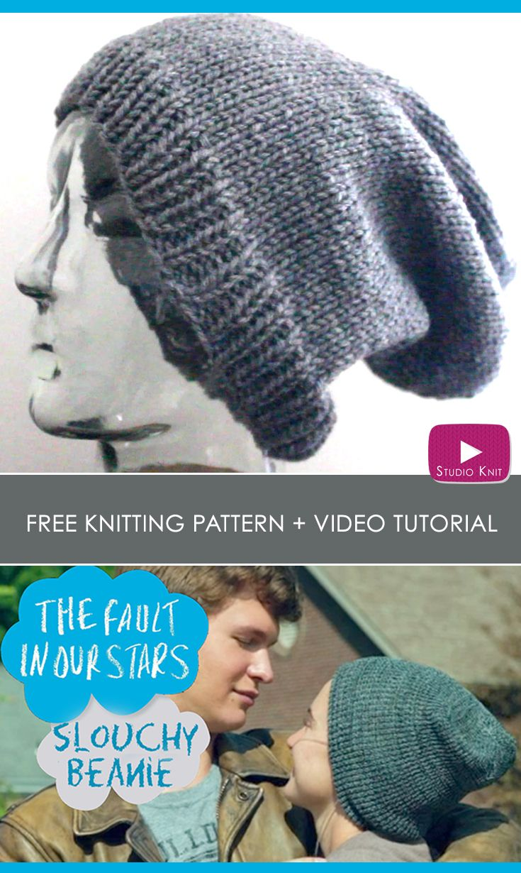 How to Knit a Slouchy Beanie | Pinterest | Tejido y Ropa