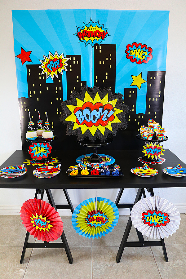 Budget Friendly Superhero Party Superhero Decorations Superhero Party Decorations Superhero Theme Party