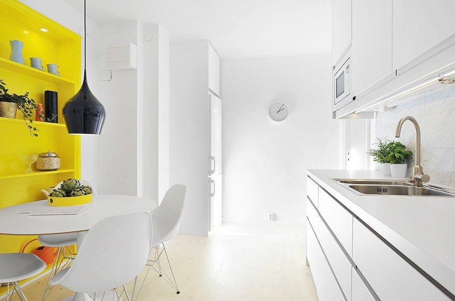 Pared amarilla en cocina | Cocinas | Pinterest | Paredes amarillas ...