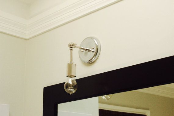 Chrome Polished Nickel Wall Sconce Vanity Plug In or ... on Decorative Wall Sconces Candle Holders Chrome Nickel id=87018