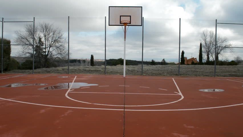 Ad Empty Outdoor Basketball Court With Puddles On The Floor You Can See A Basketball Hoop And The Lines Drawn On The Court Shutterstock Footage Keywords
