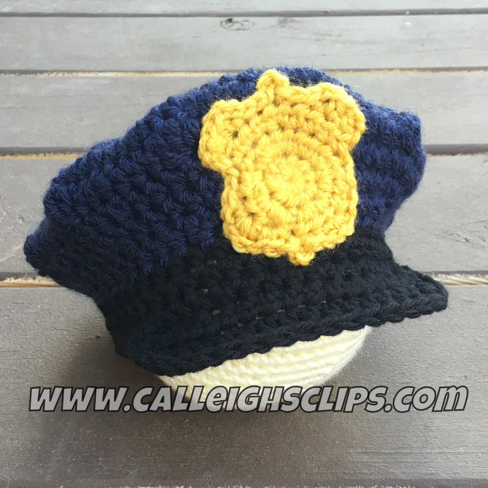 A Review of the Free Police Officer Hat crochet pattern by Busting Stitches 9d5fbdd3342