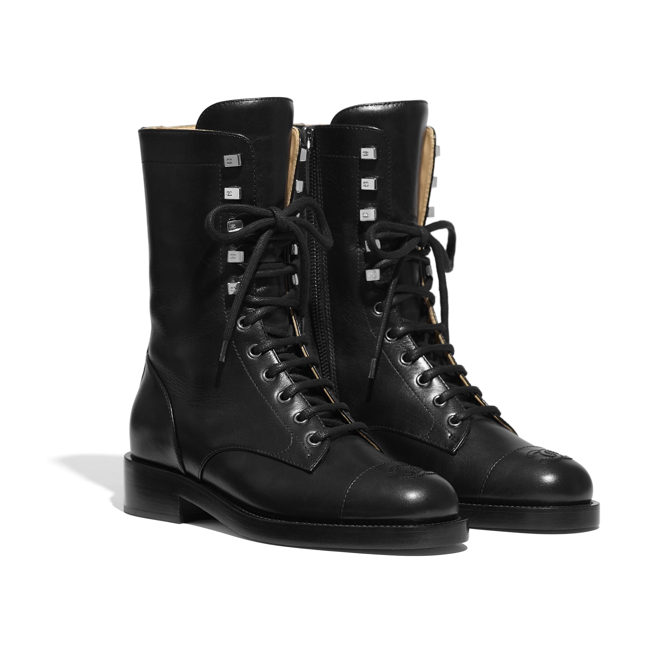Chanel boots, Boots, Chanel combat boots