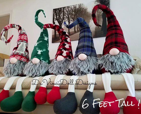 giant life size sitting nordic gnome tomte christmas gnome scandinavian christmas handmade christmas
