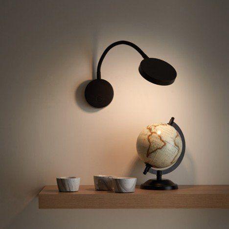 Leroy M Applique design led intégrée Qi métal Noir 1 INSPIRE