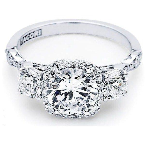 Tacori  Stone Twist Diamond Engagement Ring Cu