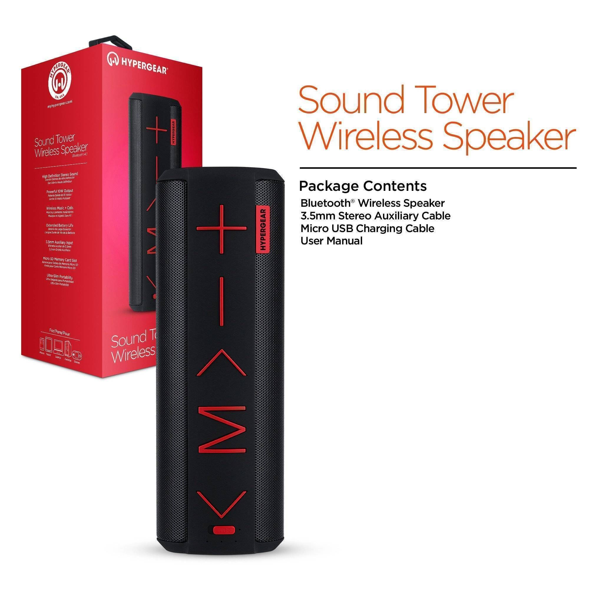 SOUND TOWER WIRELESS SPEAKER - Black | Wireless speakers ...
