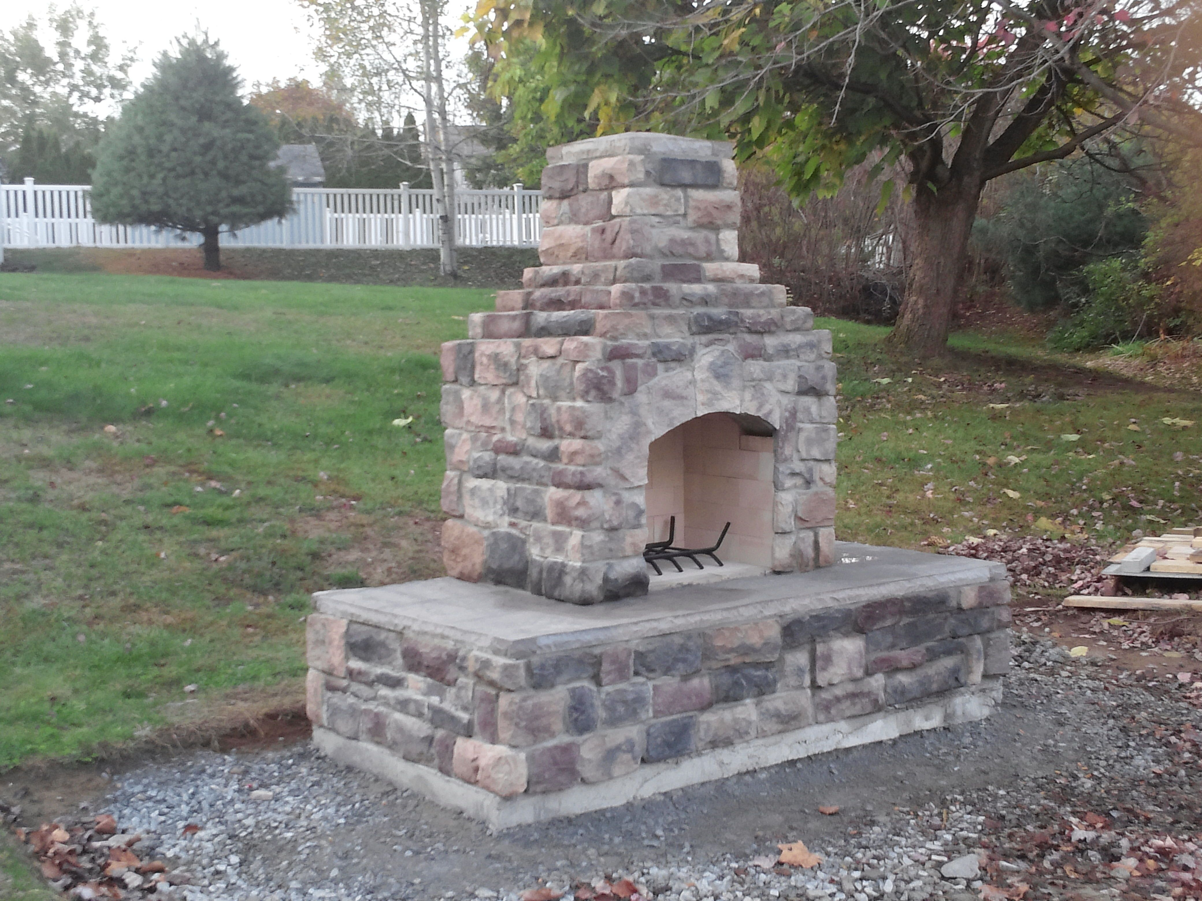 DIY outdoor fireplace for under $1,000. Wow, but this ... on Diy Outside Fireplace id=49203