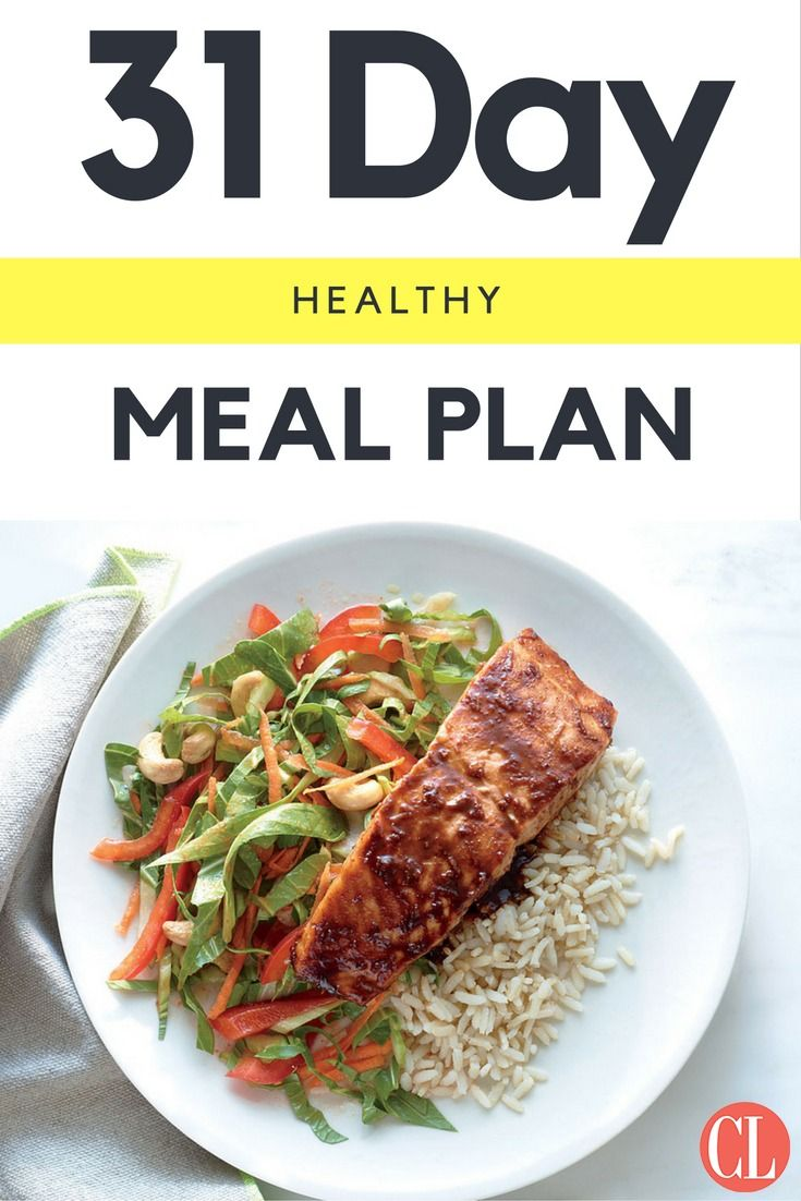 31 Day Healthy Meal Plan Cooking Light Healthy Meal Plans Cooking Light Diet Quick Healthy Meals