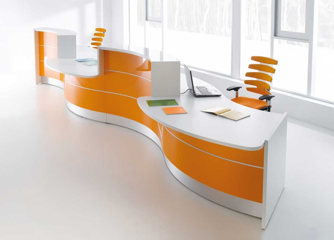 Reception desk furniture interior style 1 home design for White modern office furniture
