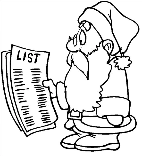 34 Christmas Colouring Pages Free Jpeg Png Eps Format Download