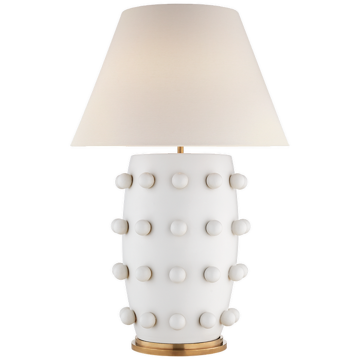 Linden Plaster White Dots Table Lamp Table Lamp Lamp White Table Lamp