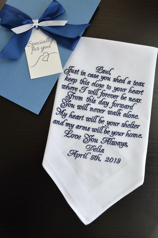 Groom gifts from bride grooms gift handkerchief wedding