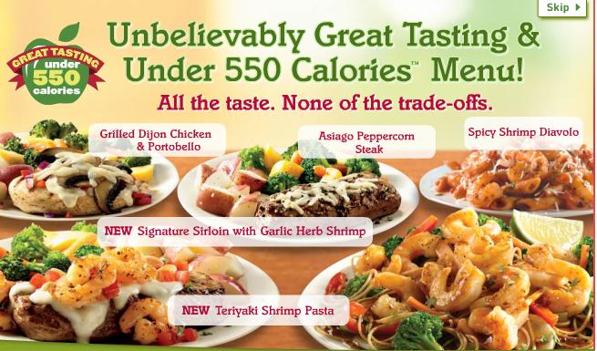 & the Fat Applebee's Under 550 Calories