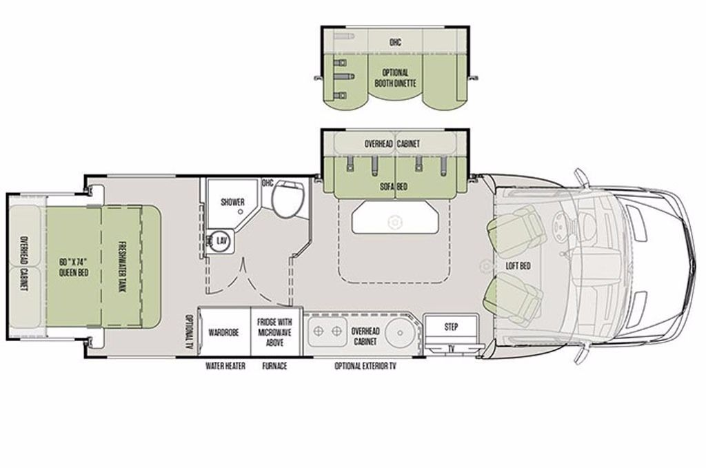 2017 tiffin motorhomes wayfarer 24 qw m20446 캠핑