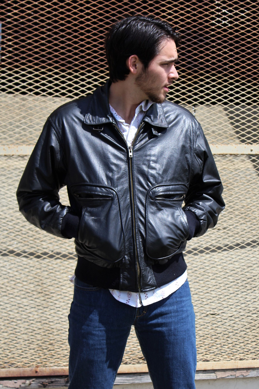 Vintage Leather Bomber Jacket From Stratojac Black Bomber Men Stratojack Small Bomber Jacket Men B Mens Black Jacket Leather Jacket Mens Leather Clothing [ 3000 x 2000 Pixel ]