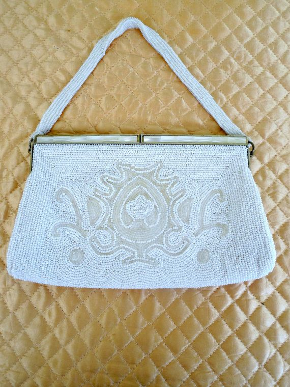 Delill Vintage Beaded Clutch for Bride