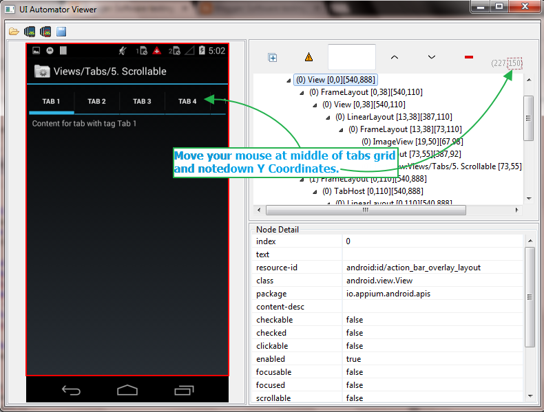 Appium - How To Scroll Horizontal Tabs Using Appium In Android App