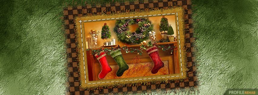 Its Christmas Stocking Facebook Cover - Free Christmas Images for Facebook Timeline Preview