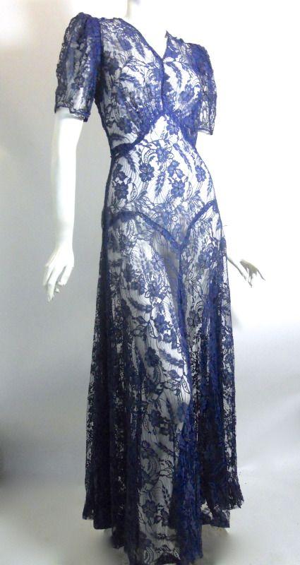 30s dress vintage clothing. I want this for @Alexis Barker's wedding SOOOOO bad!