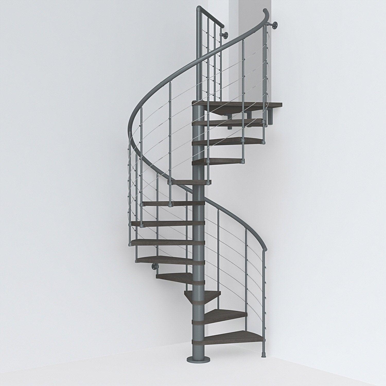 Escalier Colim Rond Rev Acier Gris Ant Ring Tube 12 Mar Orme