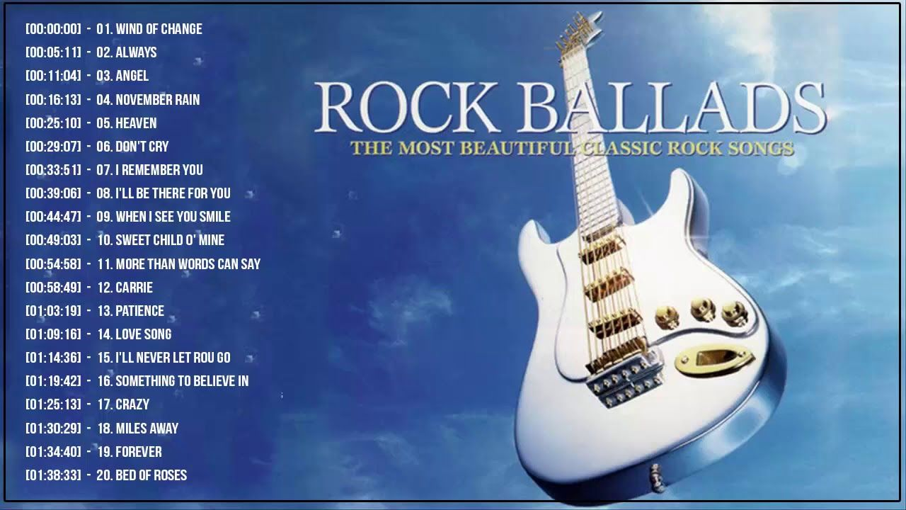 Best Rock Ballads 70's 80's 90's | The Greatest Rock Ballads Of All