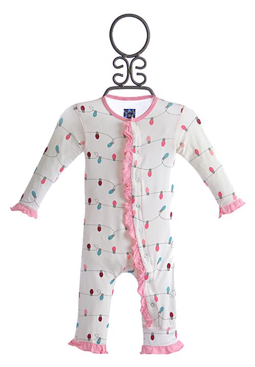 One-pieces Girls' Clothing (newborn-5t) Kickee Pants 12-18m Girls Navy With Pink Polka Dots One Piece High Quality And Inexpensive