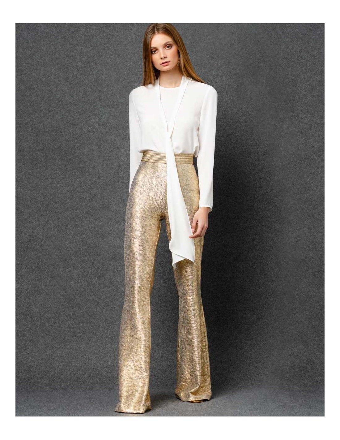 Pantalon De Fiesta Dorado In 2021 Outfits Fashion Metal Clothing