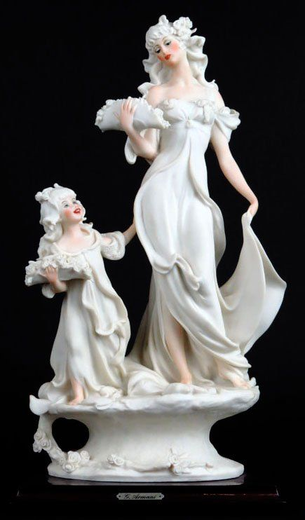 GIUSEPPE ARMANI FIGURINE OF THE BRIDE AND FLOWER CHILD : Lot 183