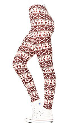 186eec7cab9705 Christmas Leggings (Small / Medium (0-12), Santa Burgundy) | Santa ...