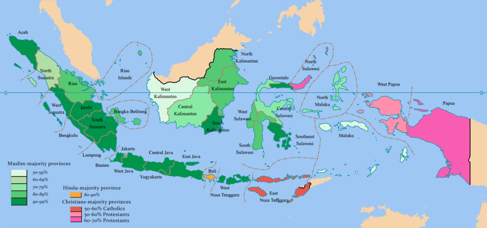 Religious Diversity Of Indonesia The Atlantis Sundaland - World religion map reddit
