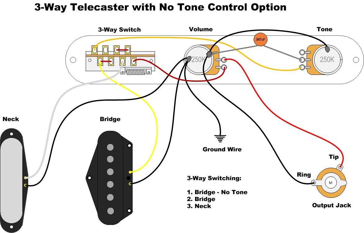 3-Way Tele Neck-Bridge-Bridge No Tone | Banjo music, Guitar, TelecasterPinterest