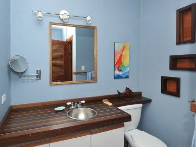 Unique nautical bathroom with custom sink and counter top. | Home ...