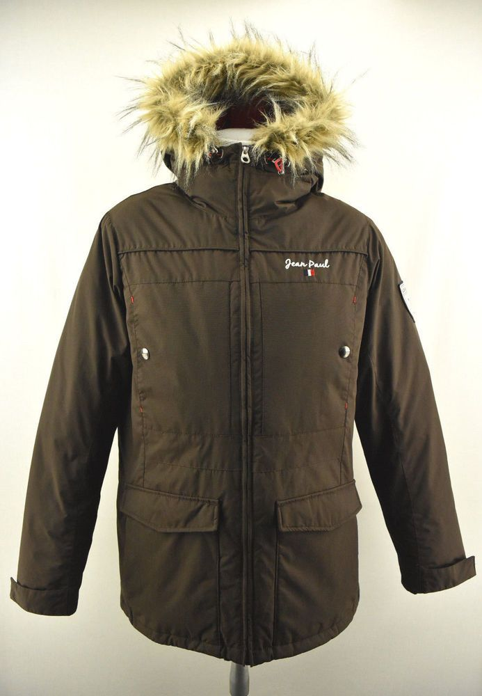 jean paul down parka mens jacket insulated outdoor winter on men s insulated coveralls cheap id=98247