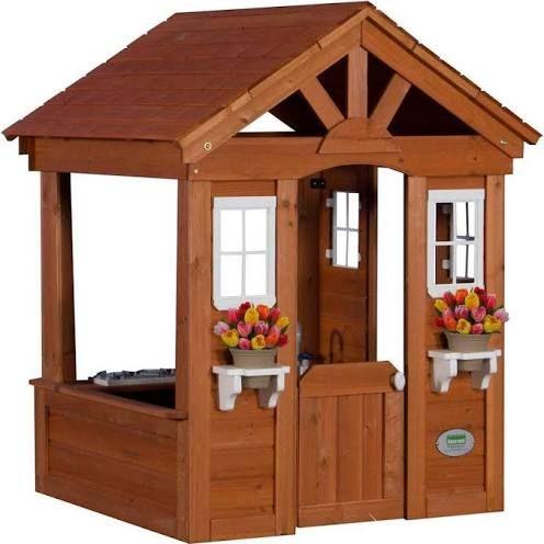 outdoor playhouse for kids home backyard Pinterest