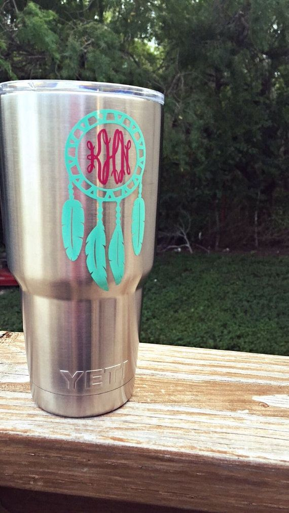 Dreamcatcher Monogram Decal By Southerncreationsbym On