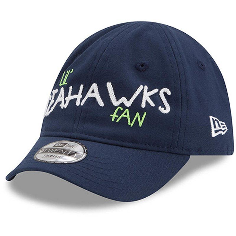 3b3ba108bda9f3 Seattle Seahawks New Era Infant Lil Cutie 9TWENTY Flex Hat – College Navy