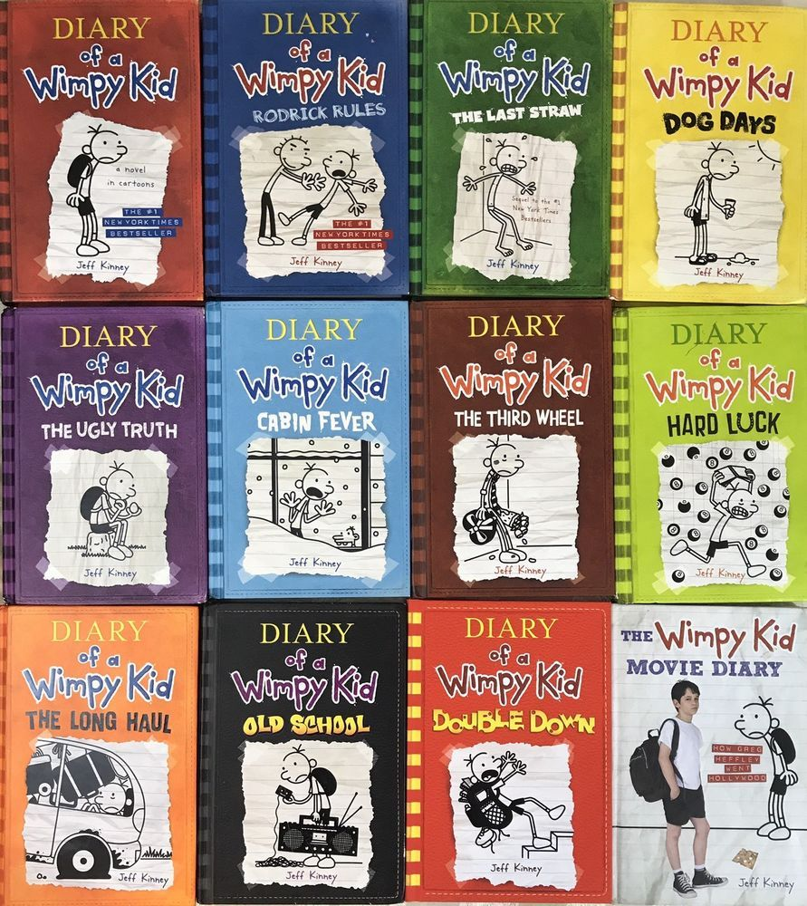 Lot Of 12 Diary Of A Wimpy Kid Jeff Kinney Books 1 11 Movie Book Hc Wimpy Kid Book 1 Wimpy
